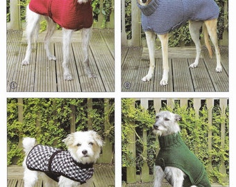 Hand Knitted Coats and sweaters for Dogs pattern only