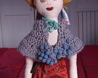 Art Cloth Doll -  Urbangipsy  Maria de las Mercedes - Lady of the Lake