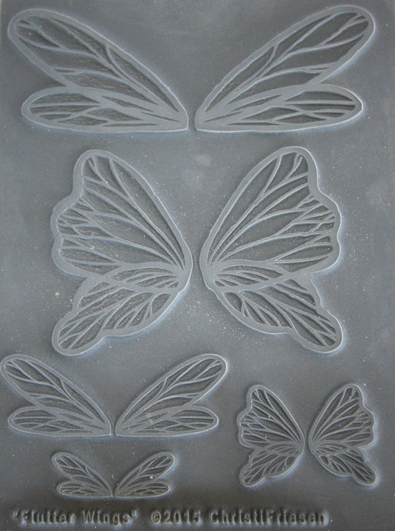 Flutter Wings Unmounted stamp great for polymer clay and other crafts designed by Christi Friesen