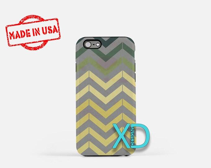 Antique Chevron Print iPhone Case, Chevron iPhone 8 Case, iPhone 6s Case, iPhone 7 Case, Phone Case, iPhone X Case, SE Case  Protective