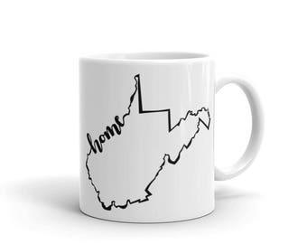 West Virginia Home State - Coffee Mug