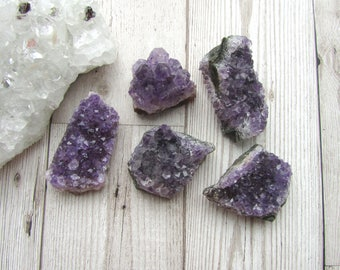 Dark Purple Amethyst Druzy Cluster - Gemstone Specimen - Natural Purple Crystal