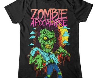 Mens Zombie Apocalypse T-Shirt (SB465)   Dad T-Shirt   Gifts For Men