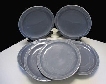 Syracuse China - Cantina Shape Blueberry Glaze Color - Luncheon Plates Restaurant Ware - Set of 4