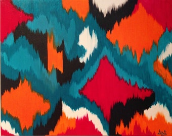 Ikat abstract