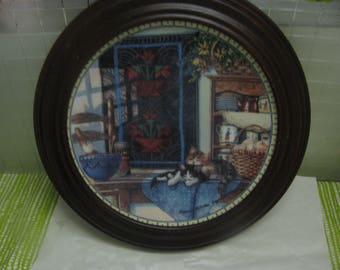 Cozy Country Corners Collector Plate - 1990s First Issue - Lazy Morning