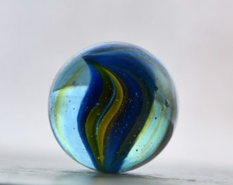 Blue and Gold swirl marble