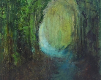 An original painting entitled 'Through the forest'