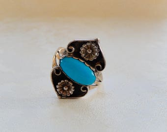 Turquoise Ring, Sterling Silver Ring, Southwestern Ring, Gift for Her