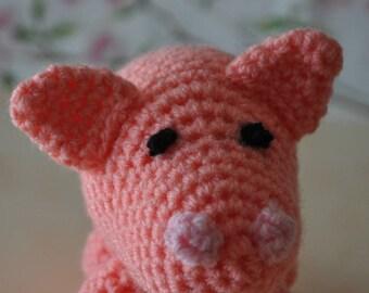 Pig crochet wool blanket