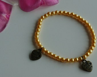 Yellow heart bracelet