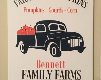 Fall Sign, Fall decor,Holiday decor,  Personalized fall decor. Personalized fall sign