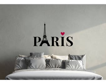 Paris Bedroom Decor, Paris, Paris Decorations, Paris Room Decorations,  Above Bed Wall