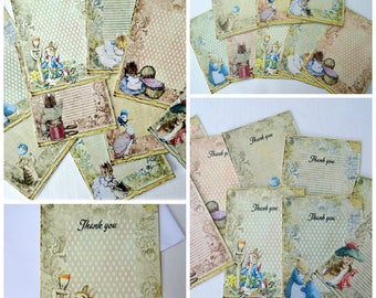 9 Beatrix Potter Peter Rabbit Cards With or Without Envelopes