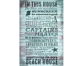 Beach House Rules - Collage Paper - SELECT SIZE - CLPR291 - by StudioR12