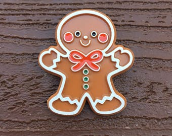 Vintage Hallmark Pin Brooch - Christmas Gingerbread Man Cookie