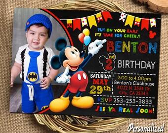 Mickey Mouse Invitation Mickey Mouse Birthday Mickey Mouse Birthday Invitation Mickey Mouse Party Mickey Mouse Printable Mickey Mouse Card