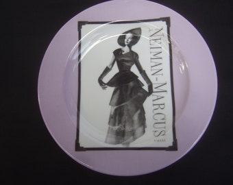 NEIMAN MARCUS Set of Four Porcelain Desert Size Plates