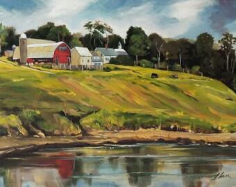 Farm at Four Corners Oil Landscape Painting