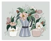 Coffee & Flowers - Print
