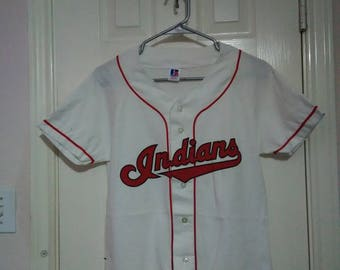 Cleveland Indians Russell athletic youth Jersey sz large