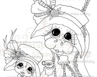 INSTANT DOWNLOAD Digital Digi Stamps Big Eye Big Head Dolls Digi  My Besties Tiny The Dragon  IMG672  By Sherri Baldy