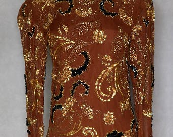 Top with Sequins Detail.