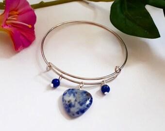 Bracelet: Deirdre (Sodalite and Lapis Lazuli)