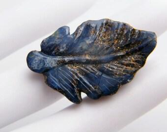 Carved Boulder Opal Leaf, Top Drilled, Natural Australian Boulder Opal
