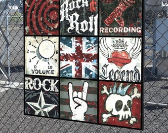 Ultimate Rock and Roll Youth Music Collage wall art by Aaron Christensen- for the musician, music lover, rock star and wanna be rock star