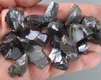 Silver Shungite - Noble Shungite, Stone of Life, Rejuvenation, Root Chakra, Healing Crystals & Stones, Energy Healing, Protection Stone T463