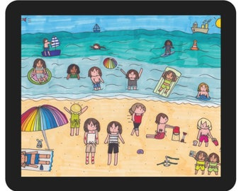 Student Seaside Vacation Mouse Mat
