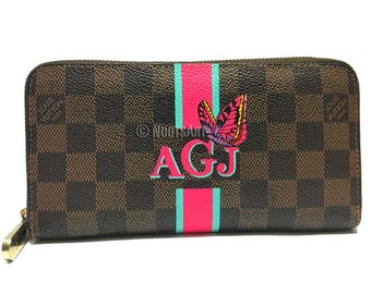 Personalized Monogrammed Louisvuitton Wallet...Customer provided a Wallet