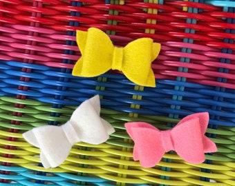 Little miss sunshine trio mini bows