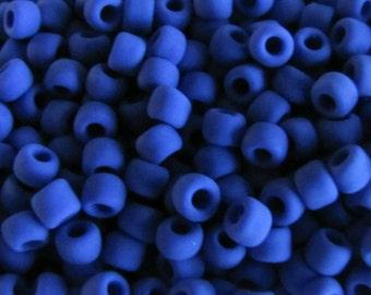6/0 Seed Beads Matte Opaque Dark Blue 10 grams 5245 Japanese Seed Beads Item #481