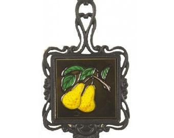 Square Trivet C/W Pears