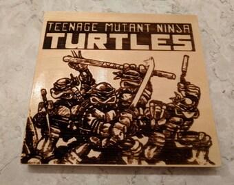 Teenage Mutant Ninja Turtles Laser Engraving
