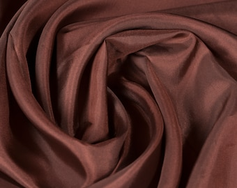 Polyester Fabric Chestnut Brown Fabric Upholstery Fabric Meter Fabric Apparel Fabric Bridal Fabric Fashion Fabric Clothing Craft Supplies