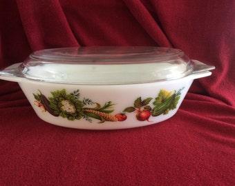 Pyrex JAJ Market Garden Tuscany Oval Casserole Dish 2.5 pint