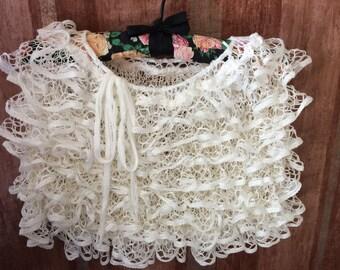Cream beach skirt