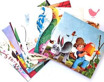 Set of 15 handmade vintage envelopes 2
