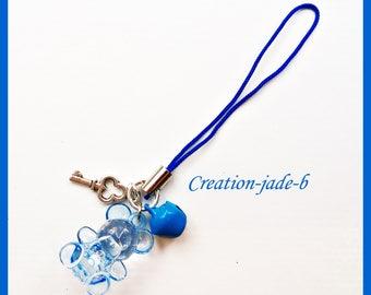 Jewelry for Portable bear dark blue - phone Strap