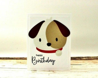 Puppy Birthday Card, Puppy Dog Birthday Card, Dog Birthday Card, Speckled Pup Birthday Card, Happy Birthday Puppy Card, Dog Card, Puppy Card