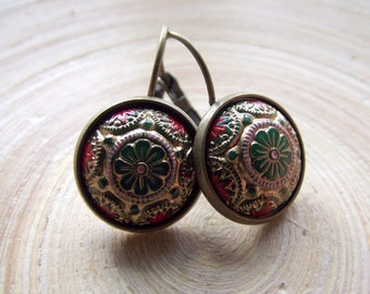 Earrings 1001 Night Orient Mosaic 14mm