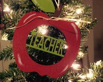 Teacher ornament, teacher christmas ornament, teacher appreciation, teacher gift
