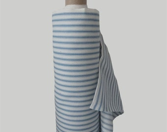 Blue Striped Cotton Ticking from Helen Round, HelenRoundDesigns