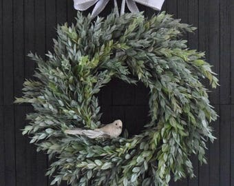 Muted Greenery Year Round Front Door Wreath