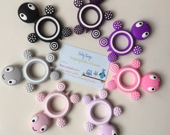Large Turtle Teethers * Silicone Teether* 100%food Grade silicone, BPA FREE