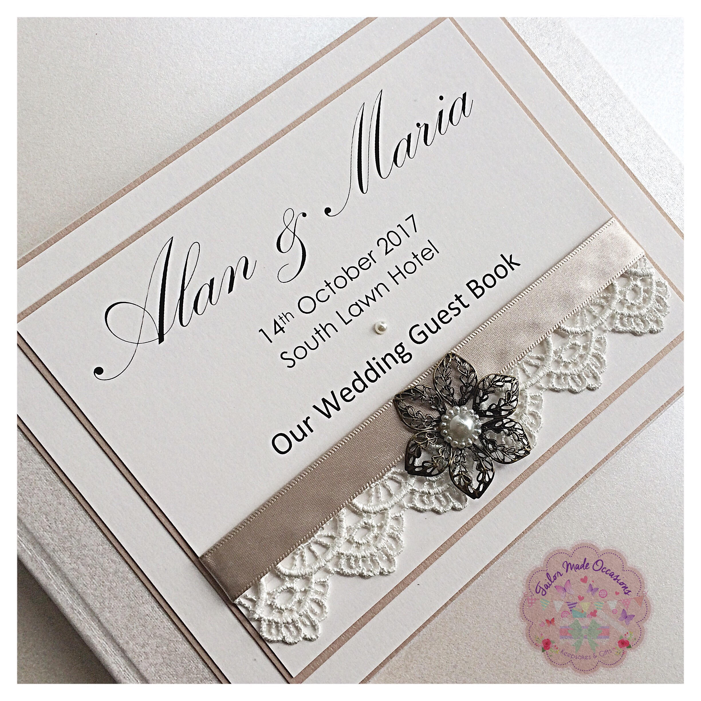 Personalised Wedding Guest Book / Card Post Box (Antique)