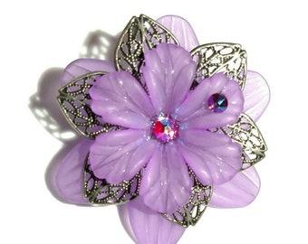 Purple Flower Hair Jewelry